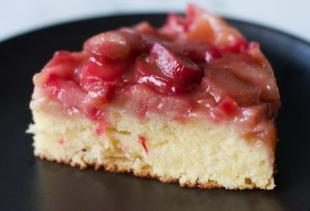 Upside-Down Rhubarb Cake
