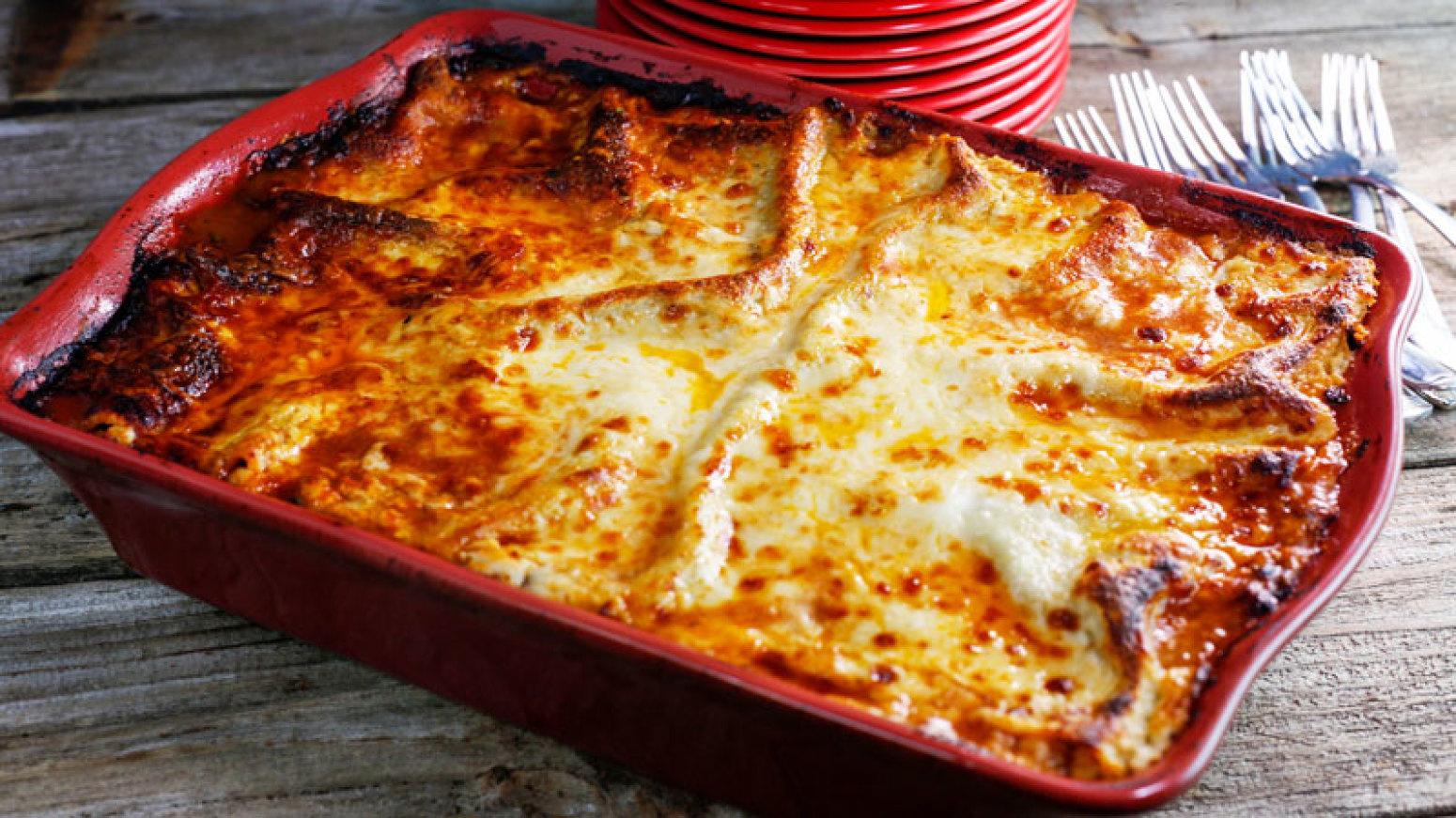 Fabio vivianis lasagna bolognese recipe just a pinch recipes