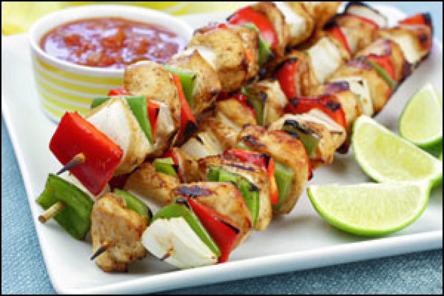 Grilled Apple 'n Squash Sausage Kebabs Recipe | Just A Pinch Recipes