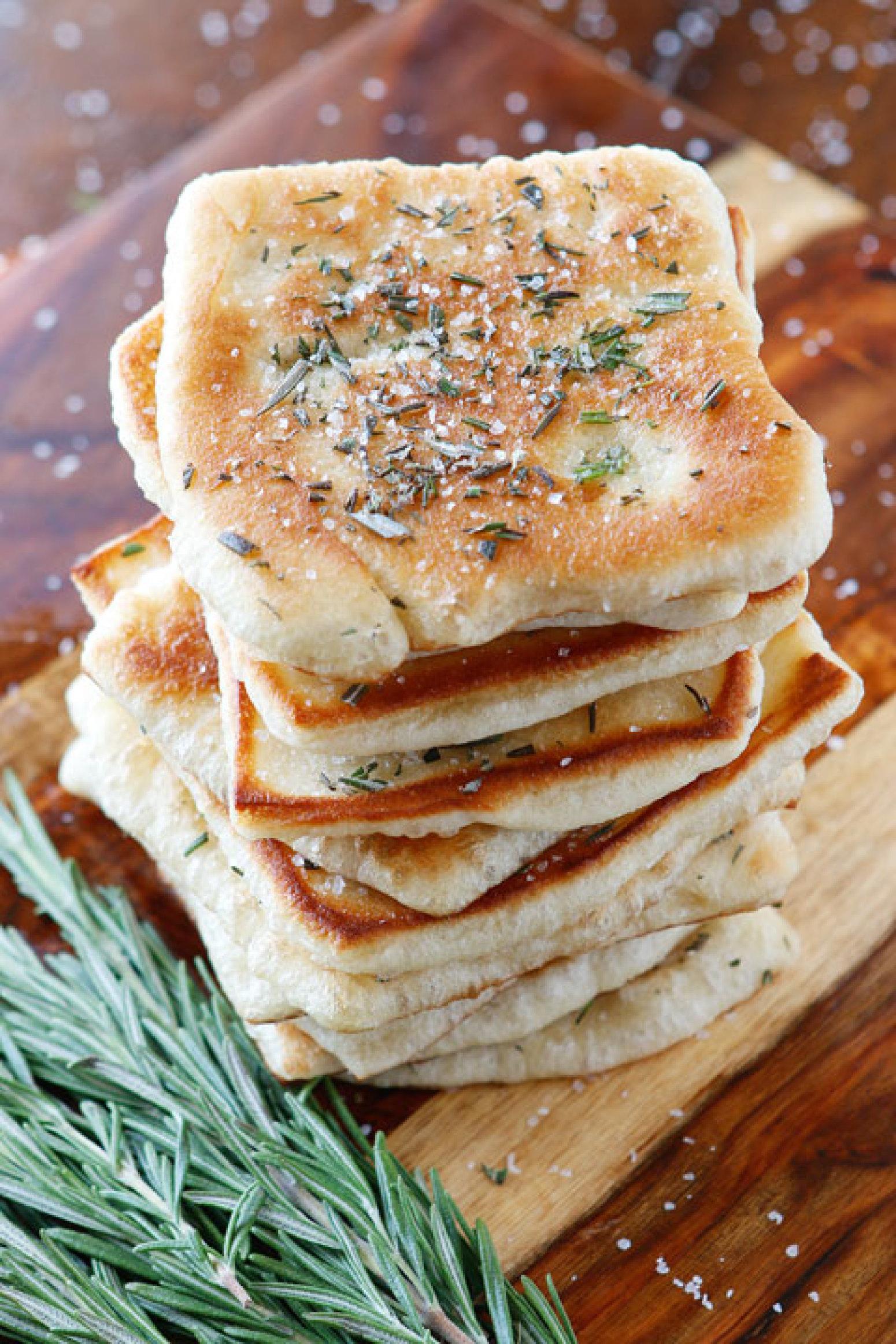 Rosemary Sea Salt Flatbread Recipe | Just A Pinch Recipes