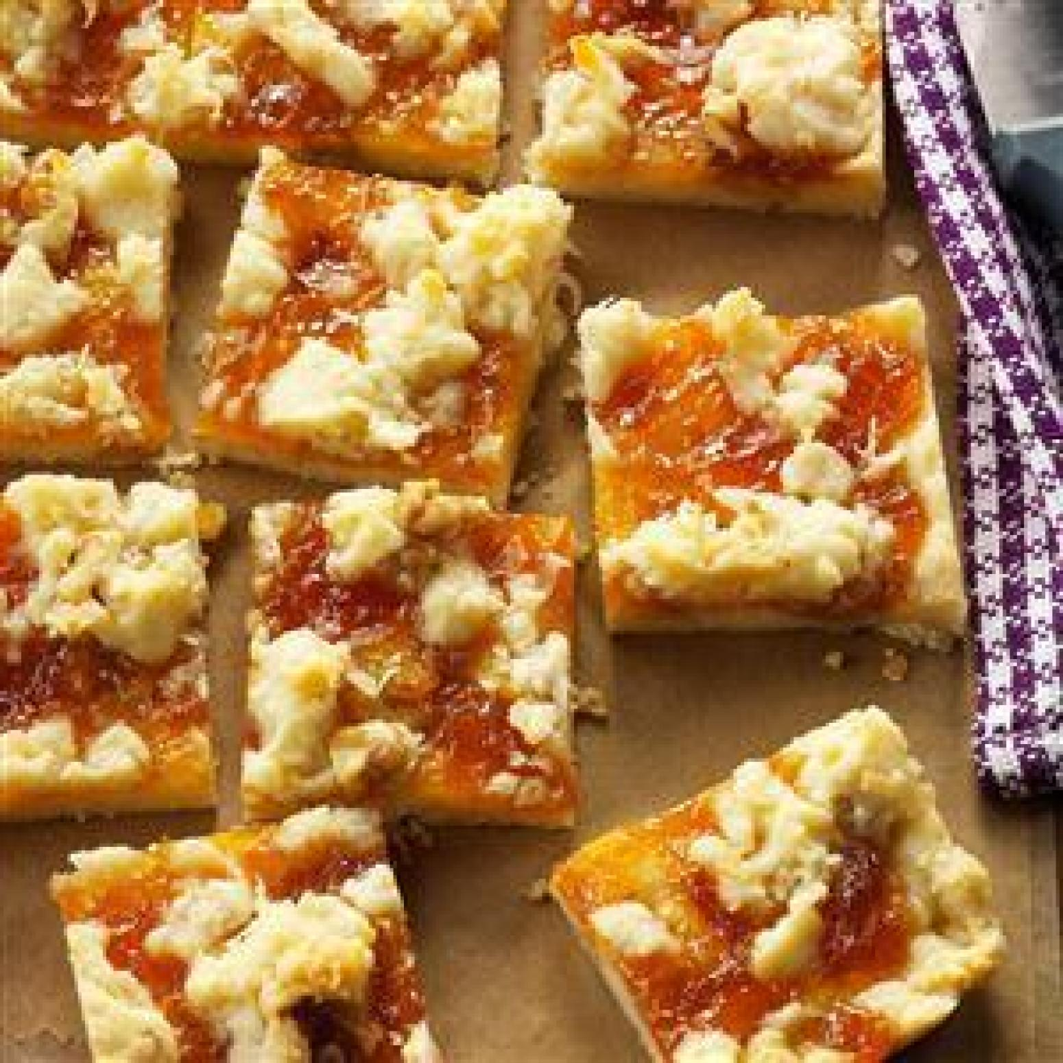 Apricot Bars Recipe — Dishmaps