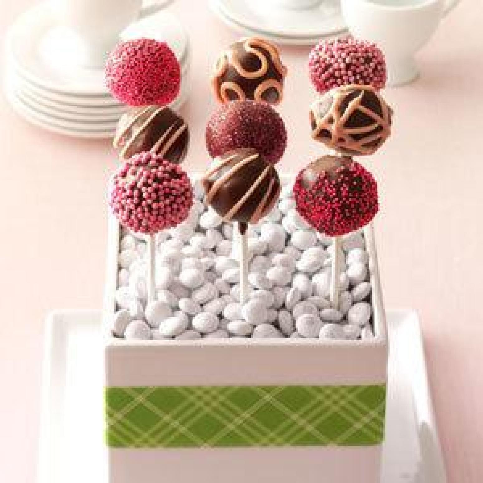 Cake Pop Pictures Recipes : Raspberry Truffle Cake Pops Recipe Just A Pinch Recipes