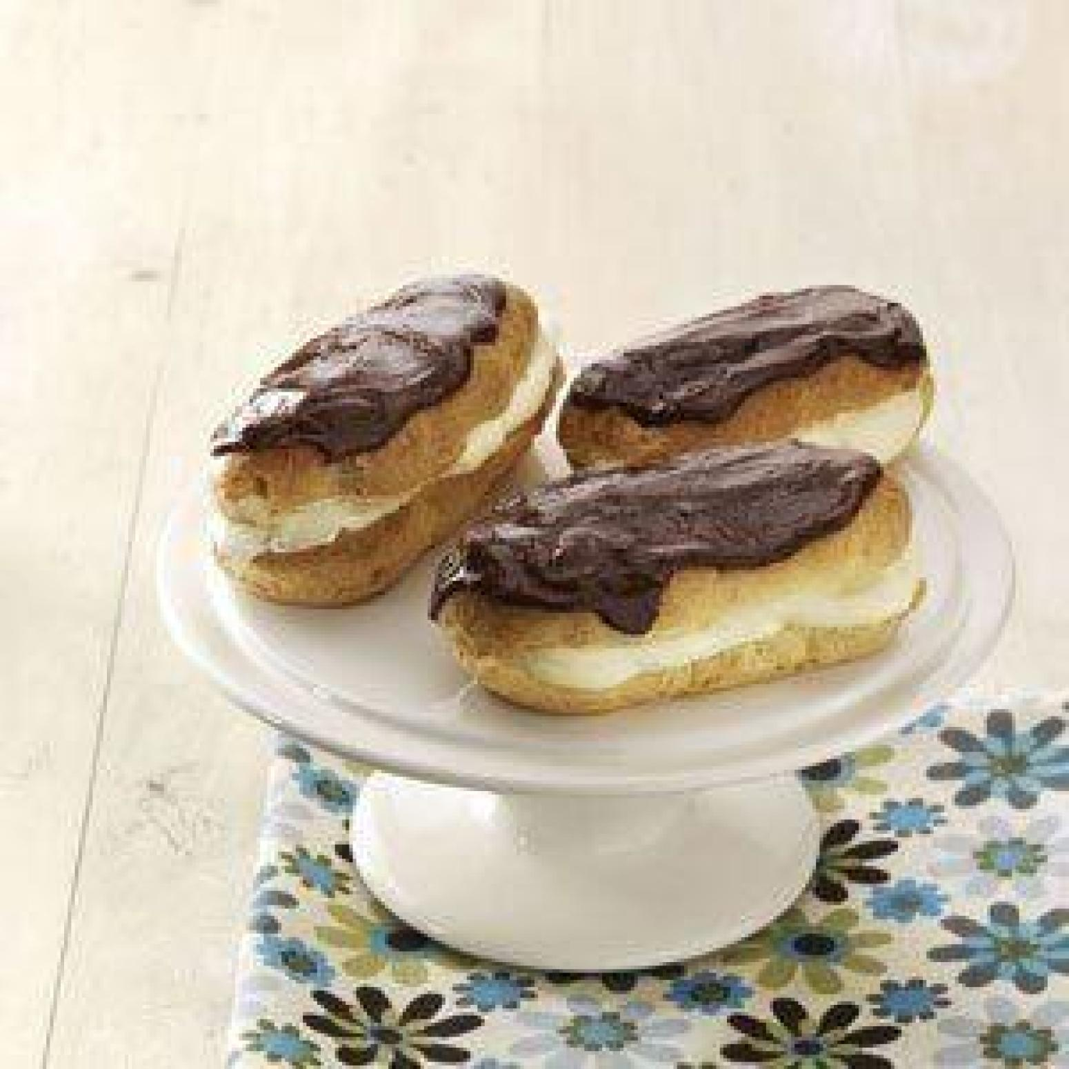 Chocolate Eclairs Recipe | Just A Pinch Recipes