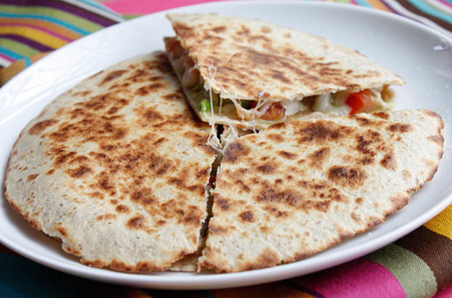 Shrimp Quesadillas with Tomato Avocado Salsa Recipe | Just A Pinch ...