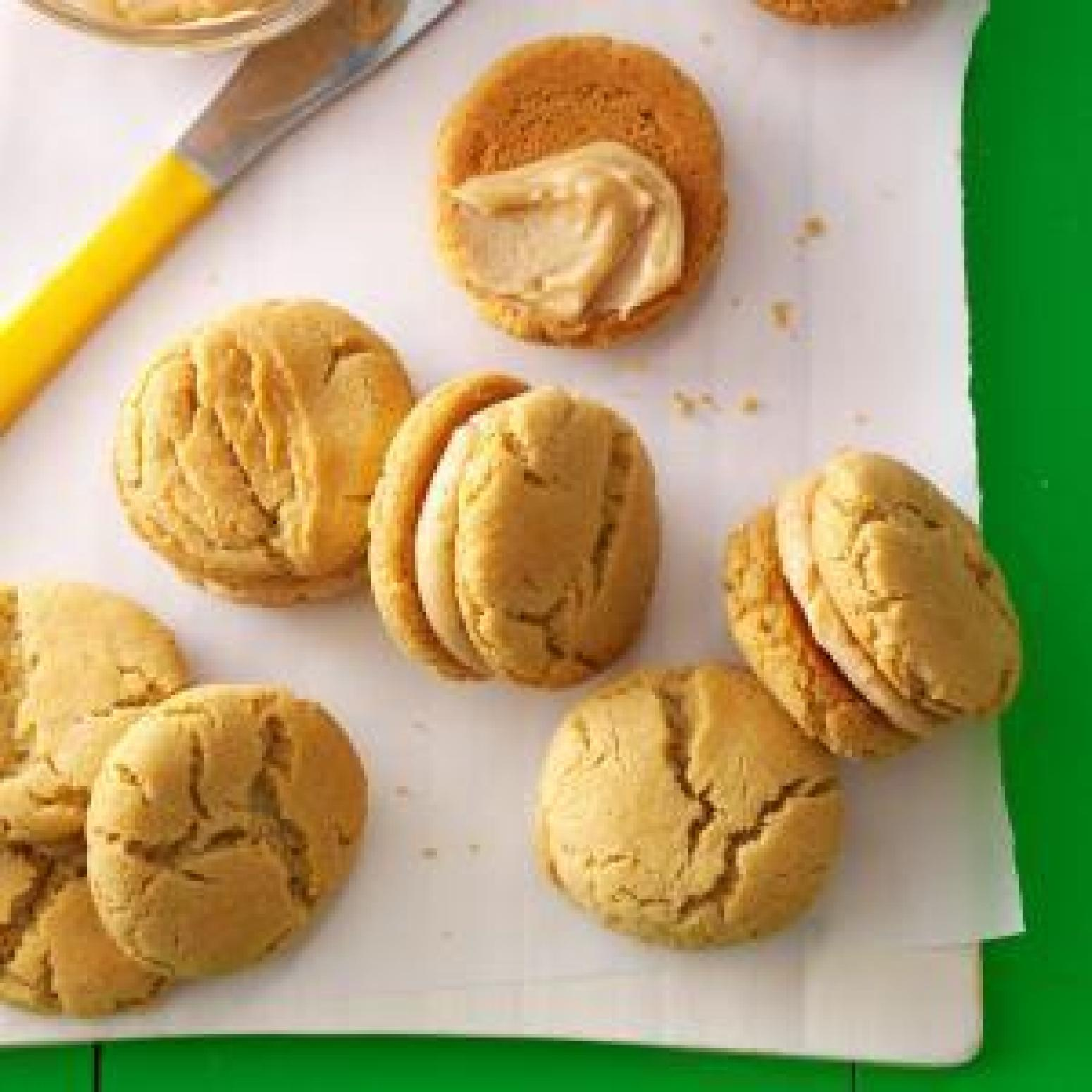 Mini peanut butter sandwich cookies recipe just a pinch for Peanut butter recipes easy dessert
