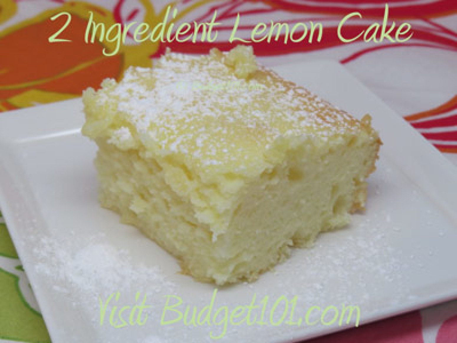 Cake Recipes With Pictures And Ingredients : 2 Ingredient Lemon Cake Recipe 2 Just A Pinch Recipes