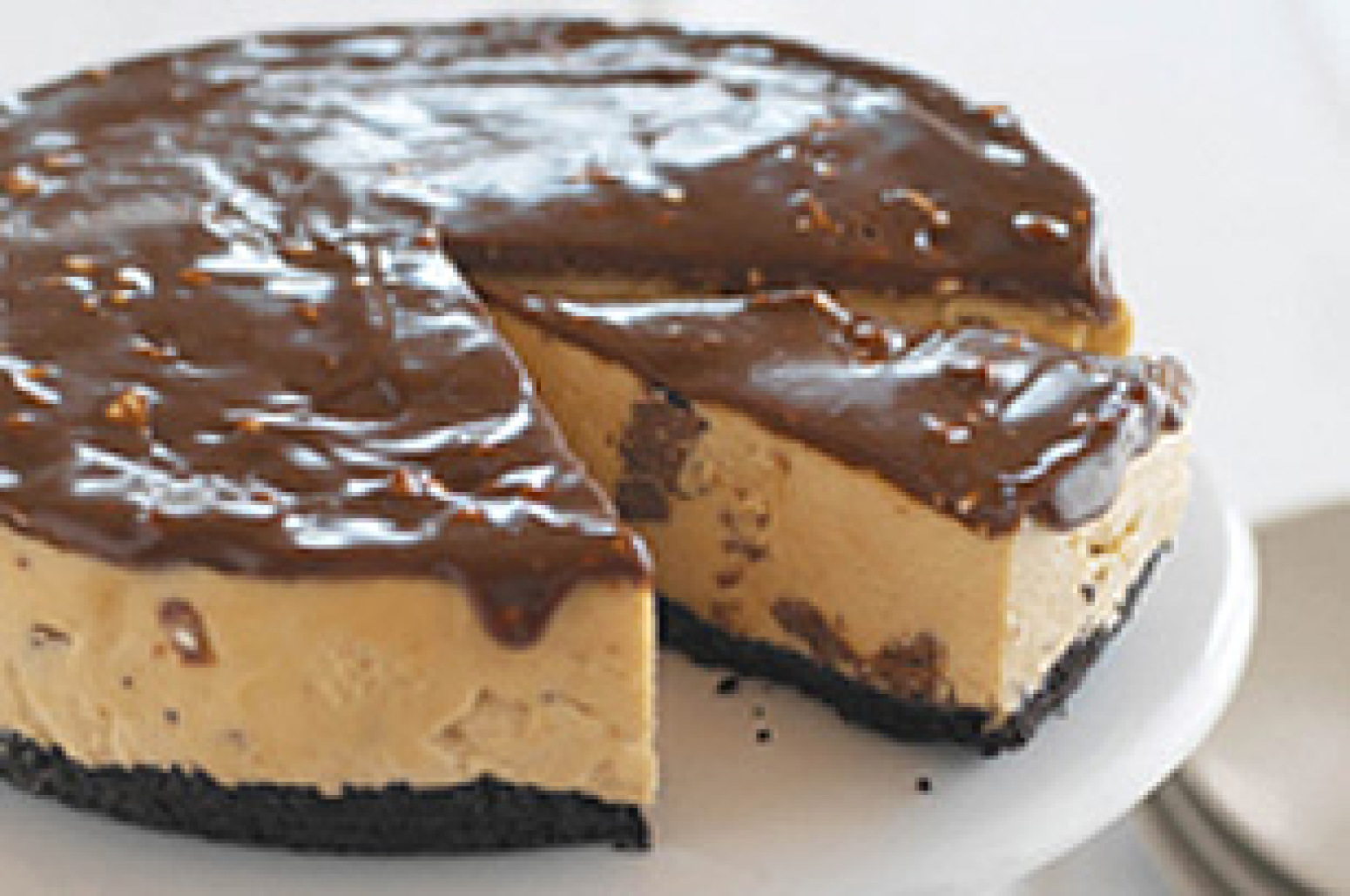 No bake peanut butter cheesecake recipe 7 just a pinch recipes - Dessert leger et rapide sans cuisson ...
