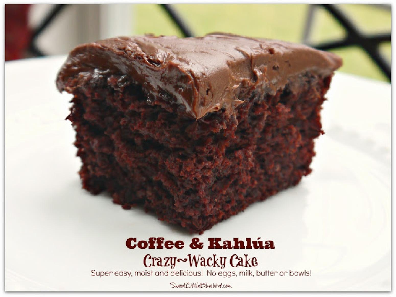 Coffee And Kahlua Crazy Cake Recipe