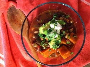 Mexican Black Bean & Sweet Potato Chili Recipe