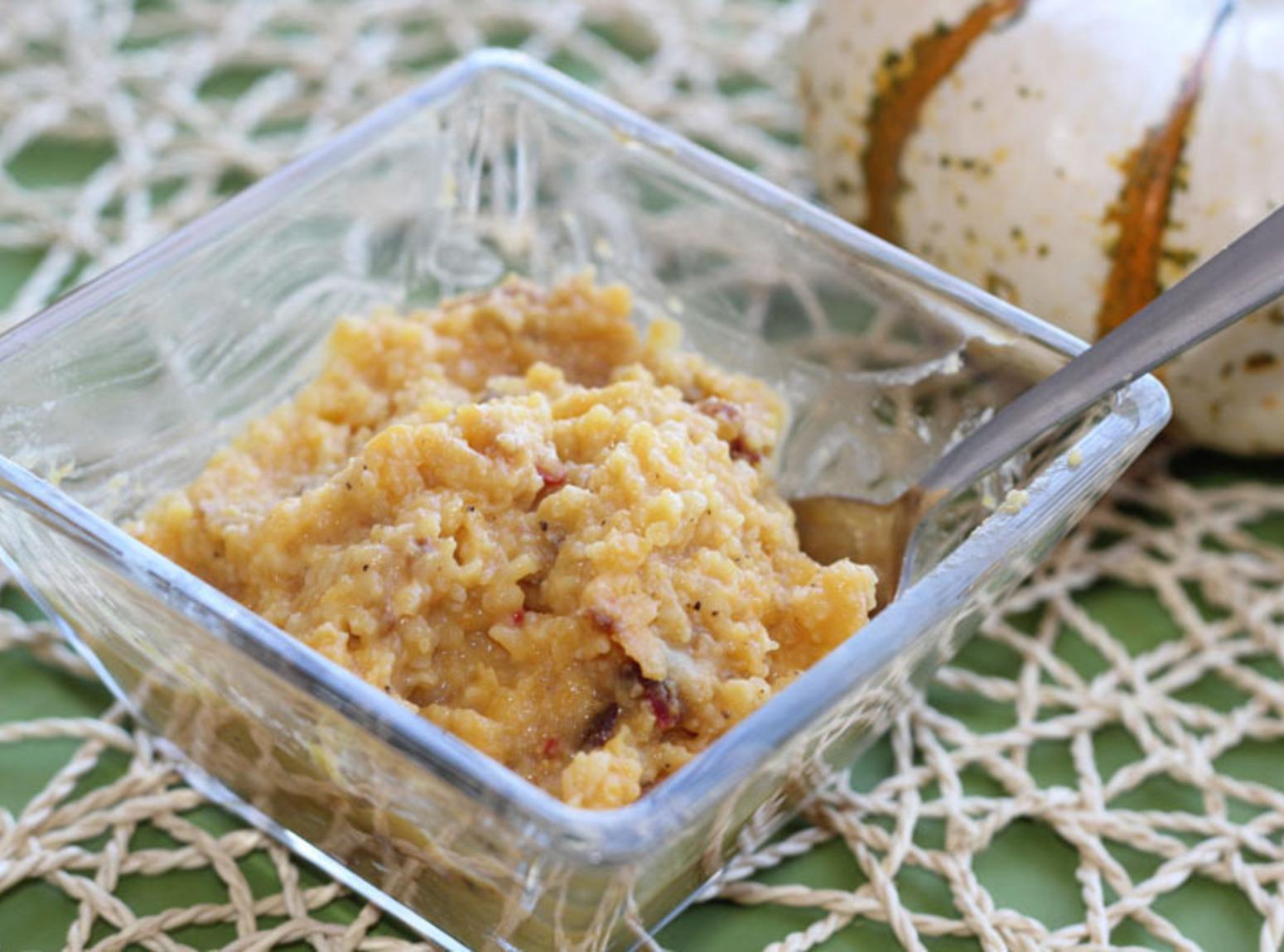 Butternut squash and goat cheese polenta Recipe