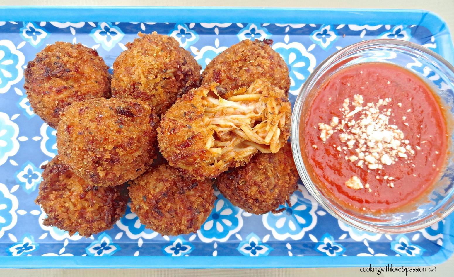 They be Lovin' Dem Deep Fried Spaghetti Balls Recipe