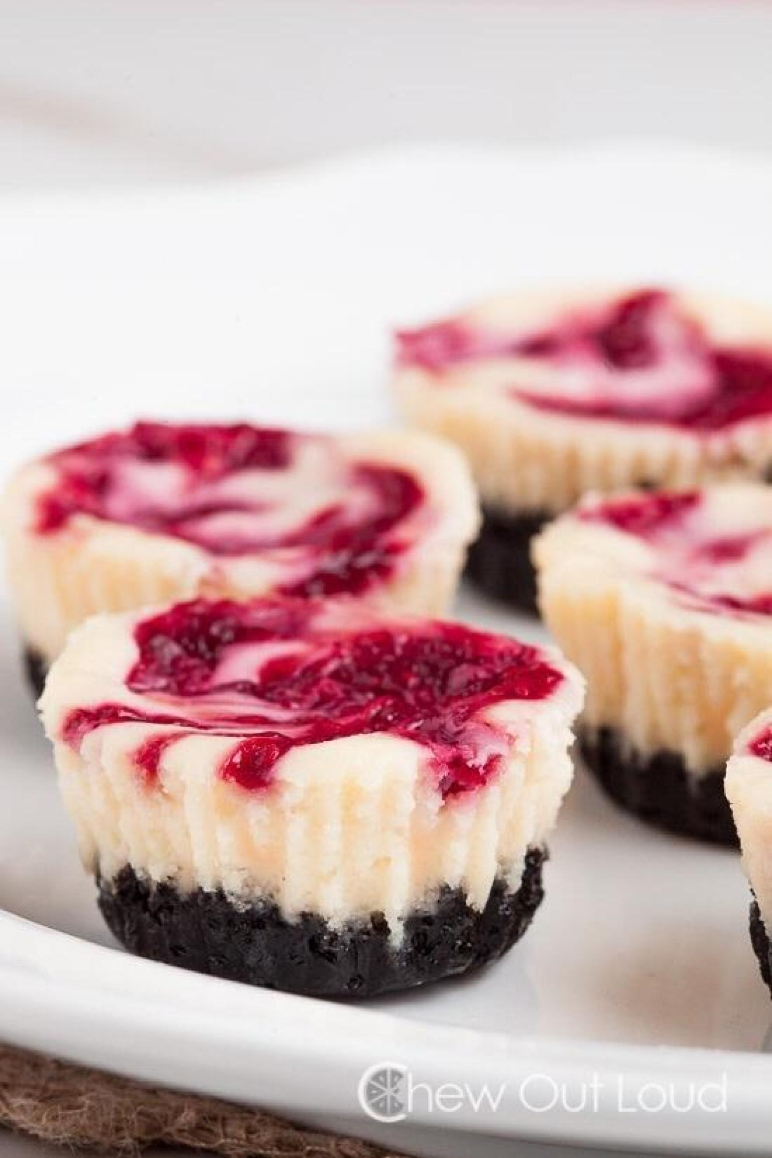 White Chocolate Raspberry Cheesecake Bites Recipe