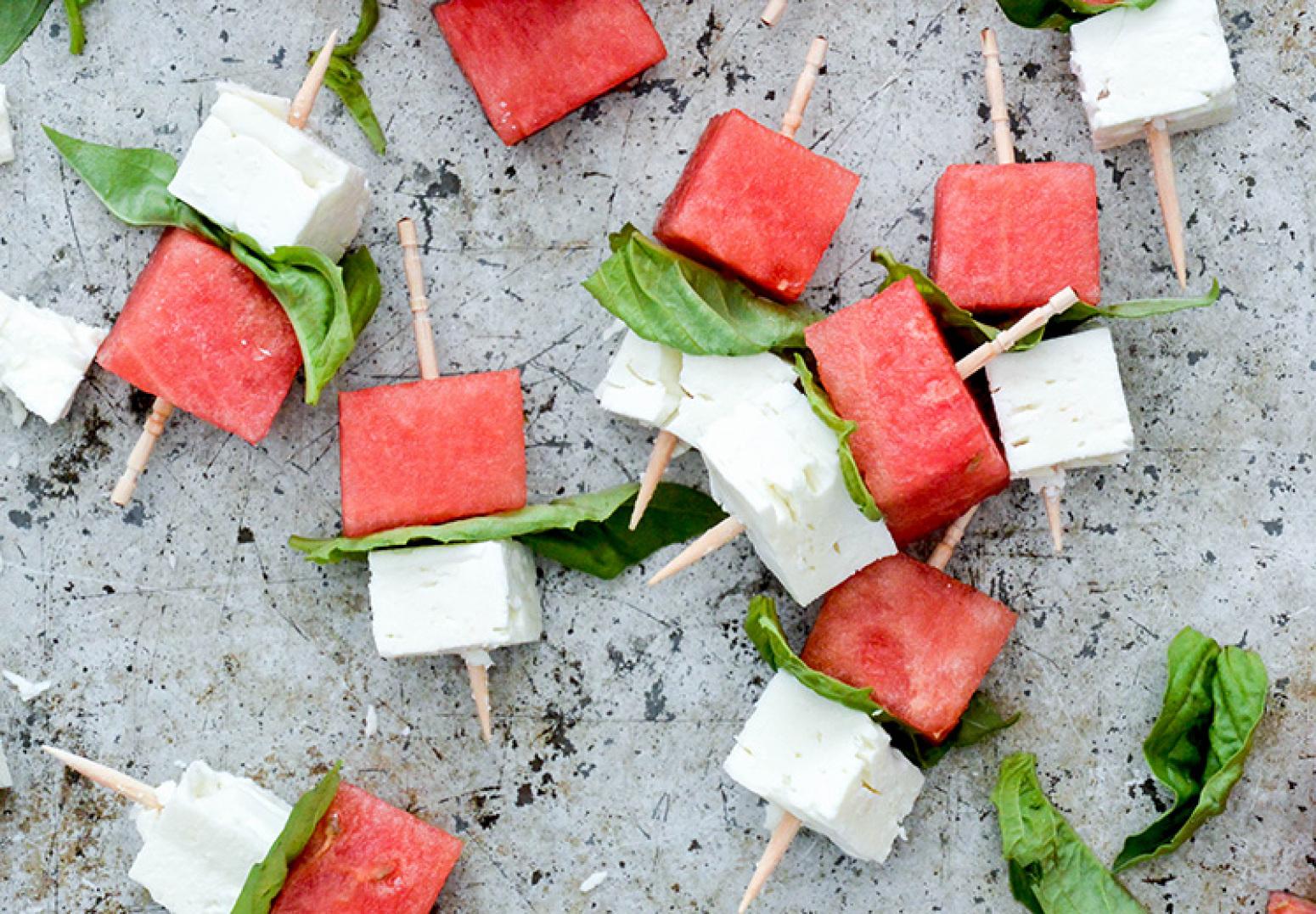 WatermelonFeta Bites Recipe 2   Just A Pinch Recipes
