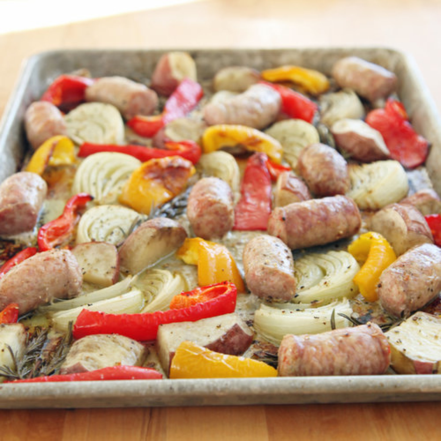 Roasted Italian Sausage, Peppers, and Onions Recipe | Just A Pinch ...