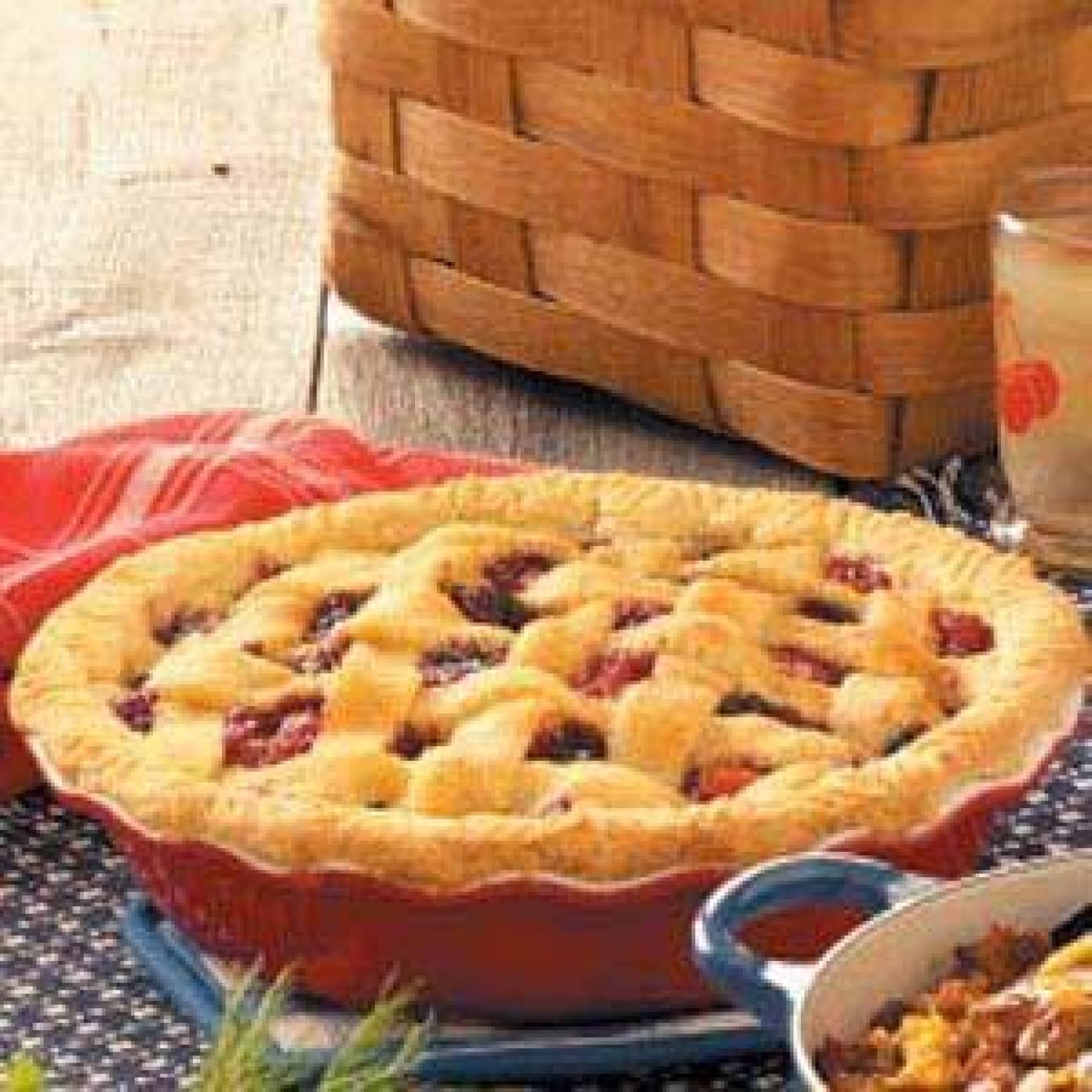 CherryBerry Peach Pie Recipe | Just A Pinch Recipes