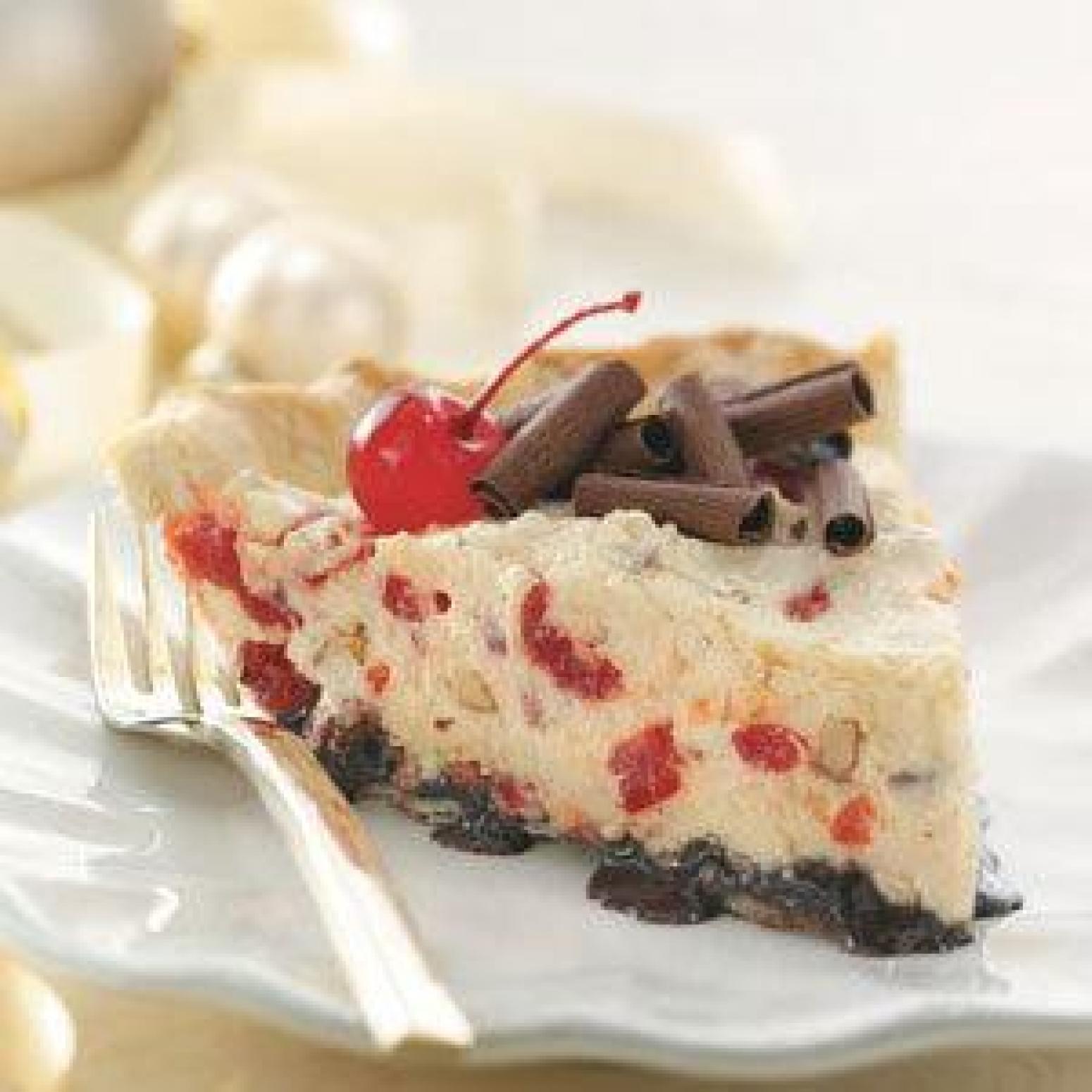 Chocolate Cherry Almond Mousse Pie