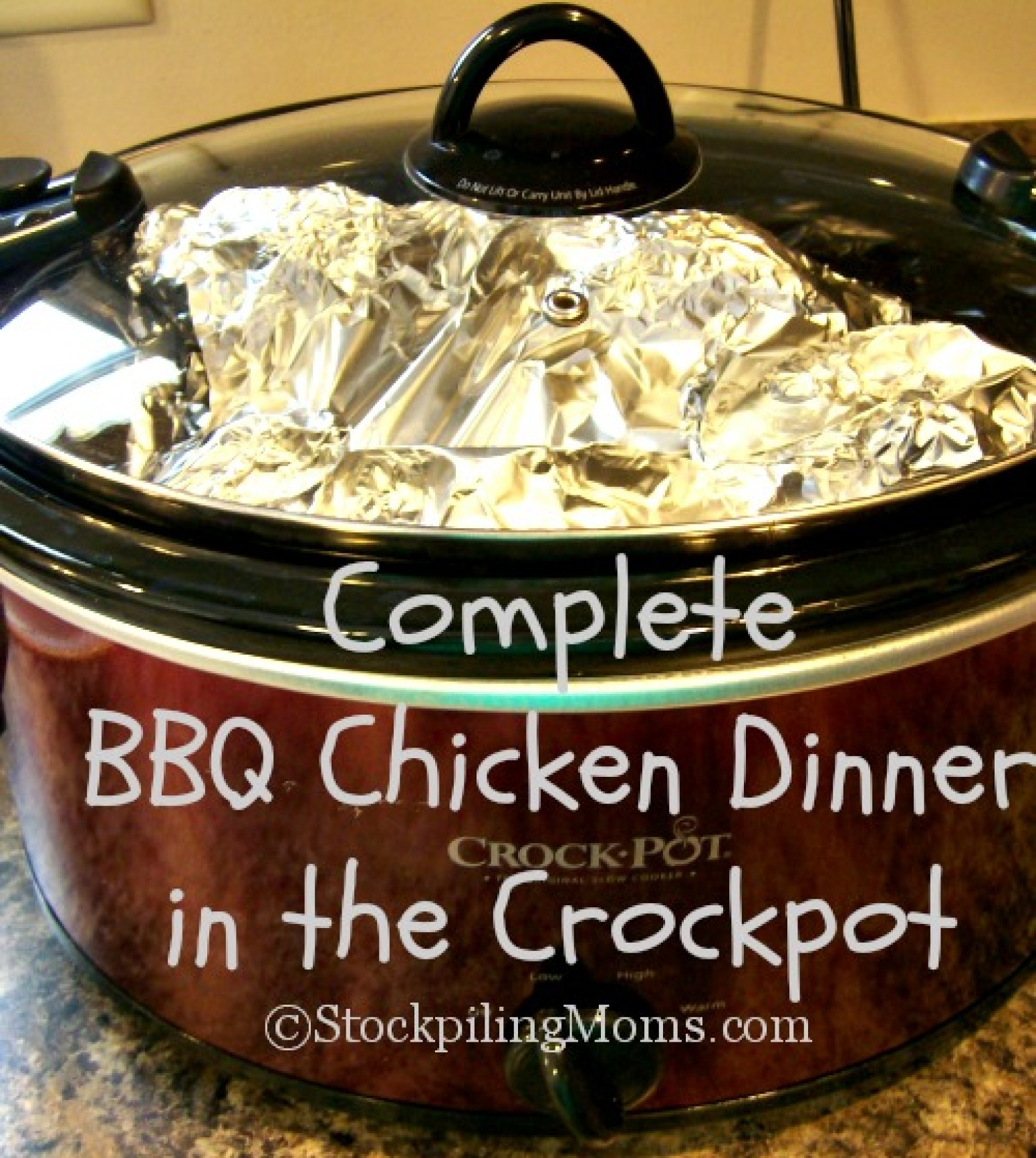 Complete BBQ Chicken Dinner In The Crockpot Recipe