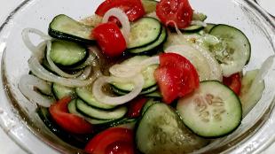 ~ Cucumber / Tomato Salad ~