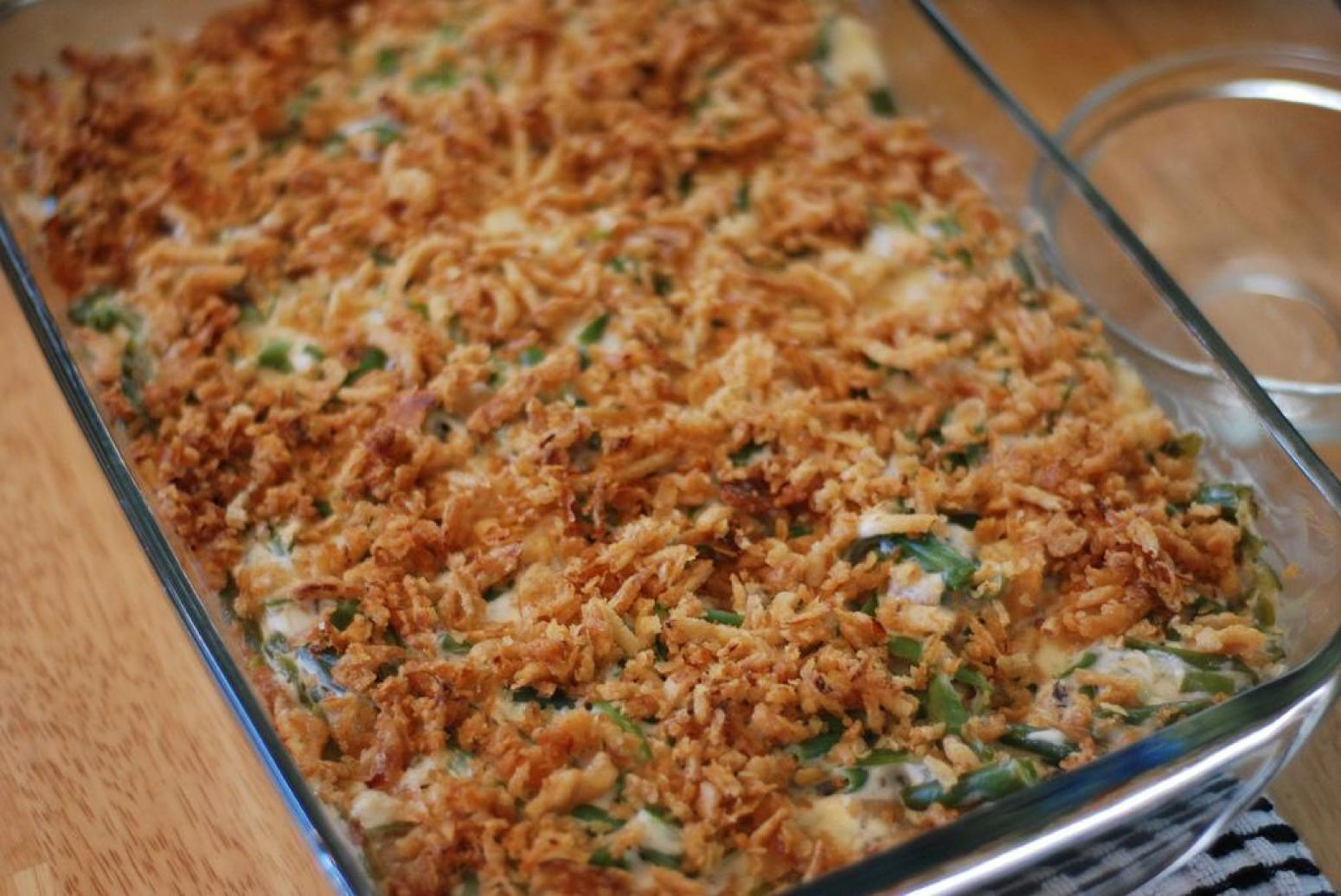 Green Bean Casserole (with canned green beans) Recipe | Just A Pinch ...