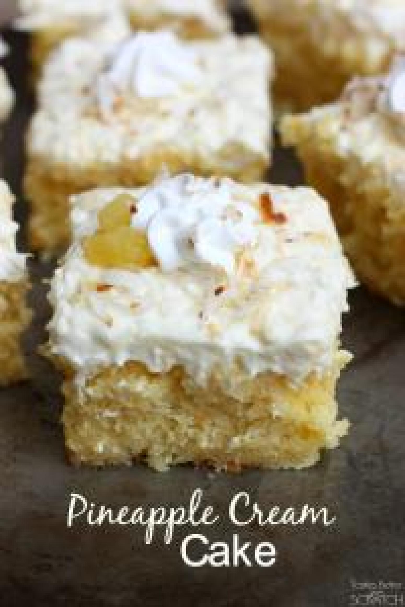 Canned Coconut Cream Cake