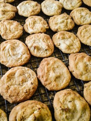 Chewy Gooey Maple Pecan Cookies Recipe