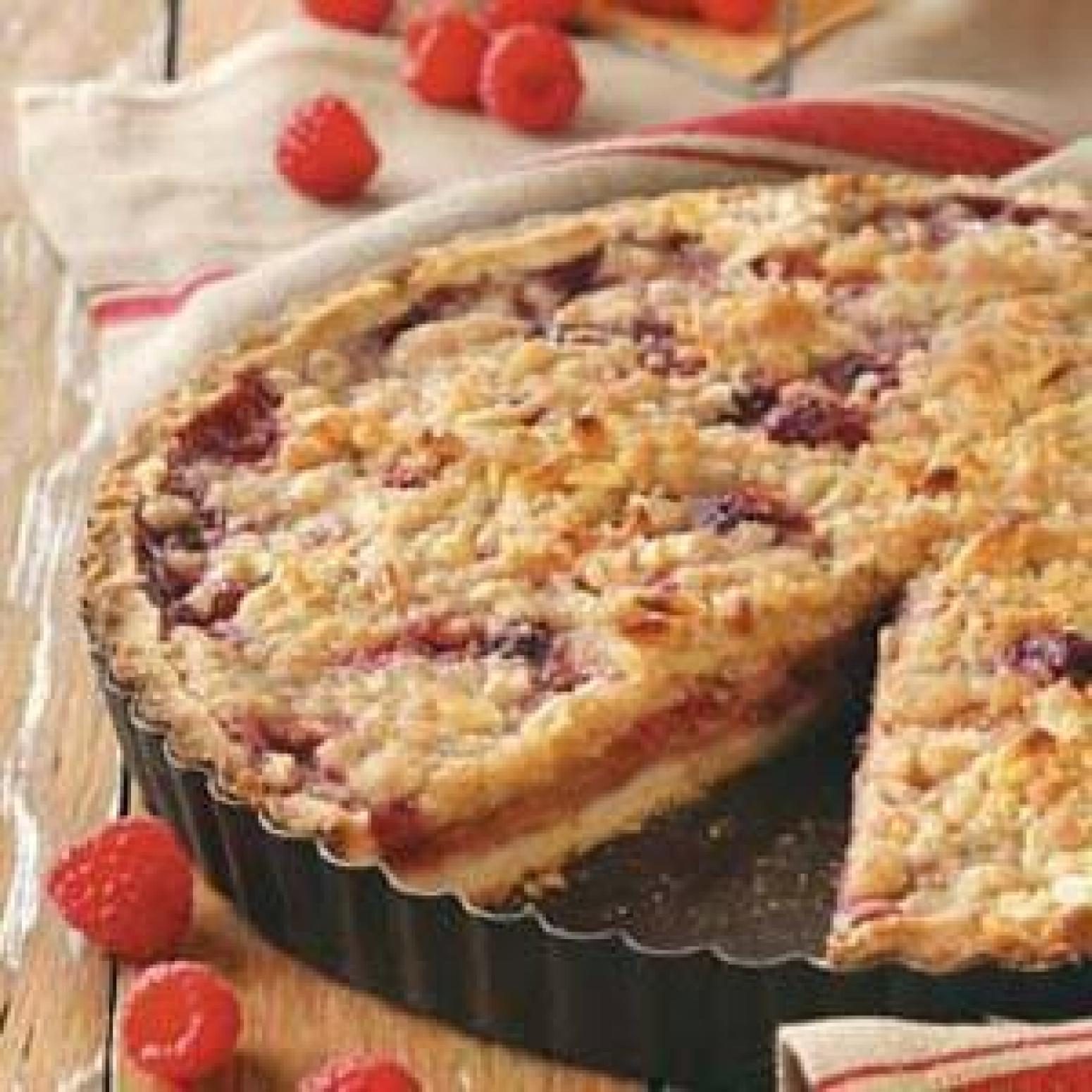 Raspberry Pear Tart Recipe | Just A Pinch Recipes