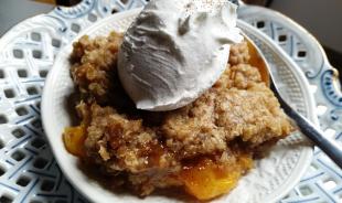 ~ Peachy Caramel Crisp ~ Recipe