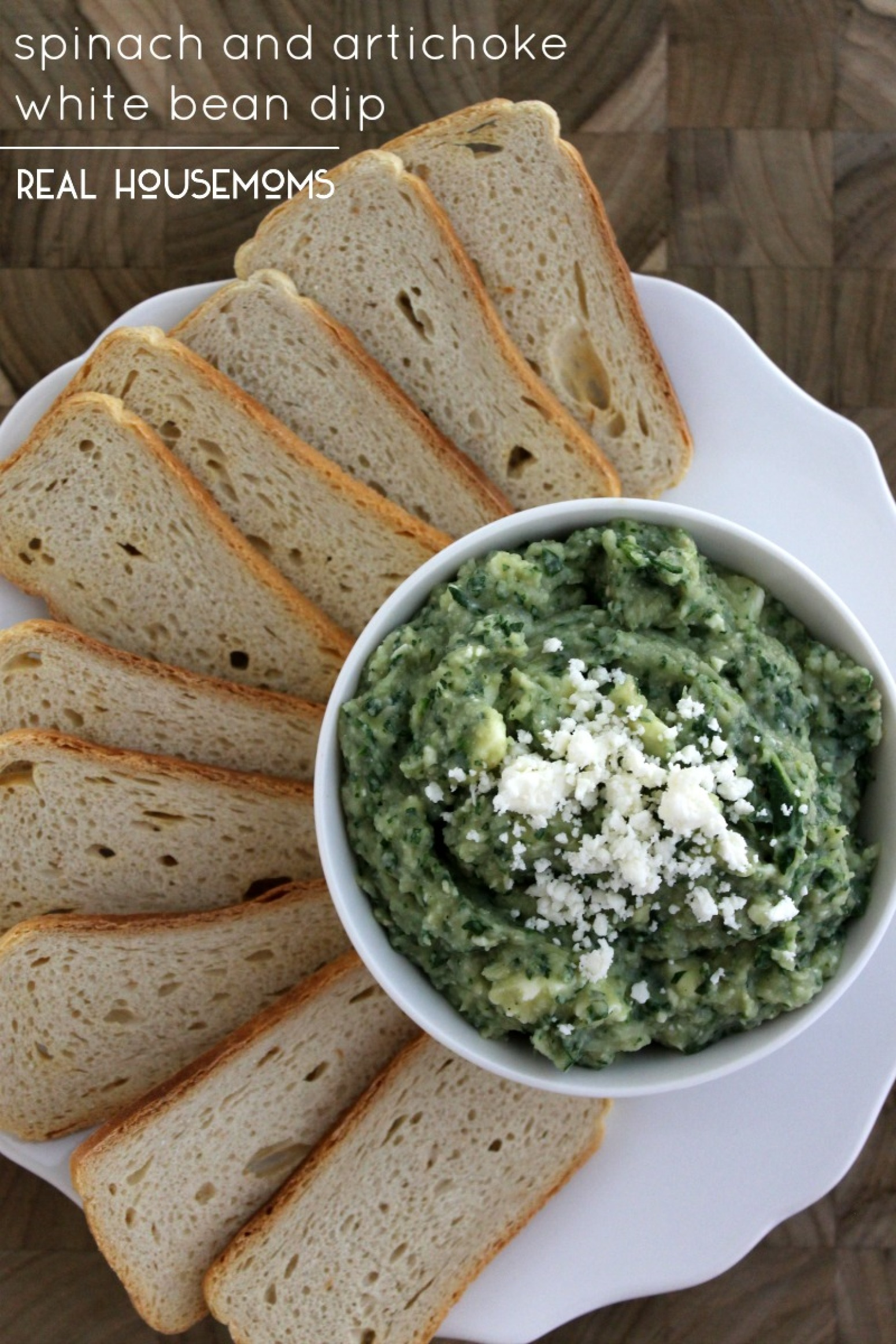 Spinach and Artichoke White Bean Dip Recipe | Just A Pinch ...