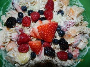 Pasta fruit salad