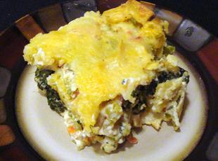 Dewillia's Chicken Tortilla Spinach Casserole Recipe