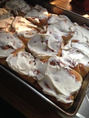 Tina's Cake Mix Cinnamon Rolls from Helen Hartman Recipe
