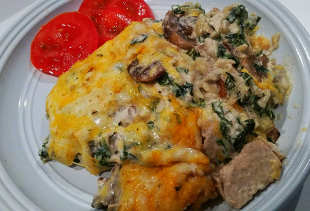 ~ Savory Chicken & Spinach Casserole ~