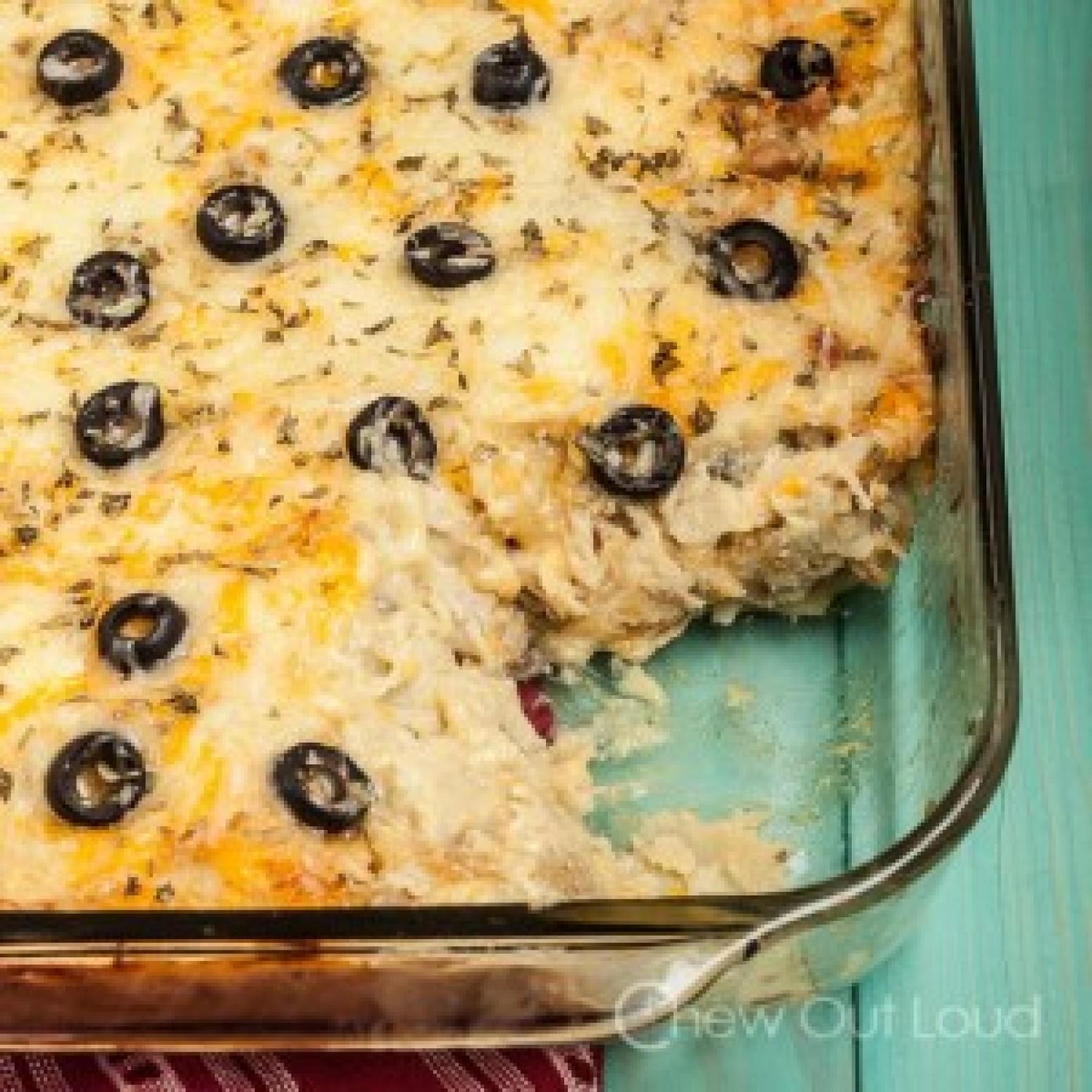 White Chicken Enchilada Casserole Recipe 3 | Just A Pinch ...