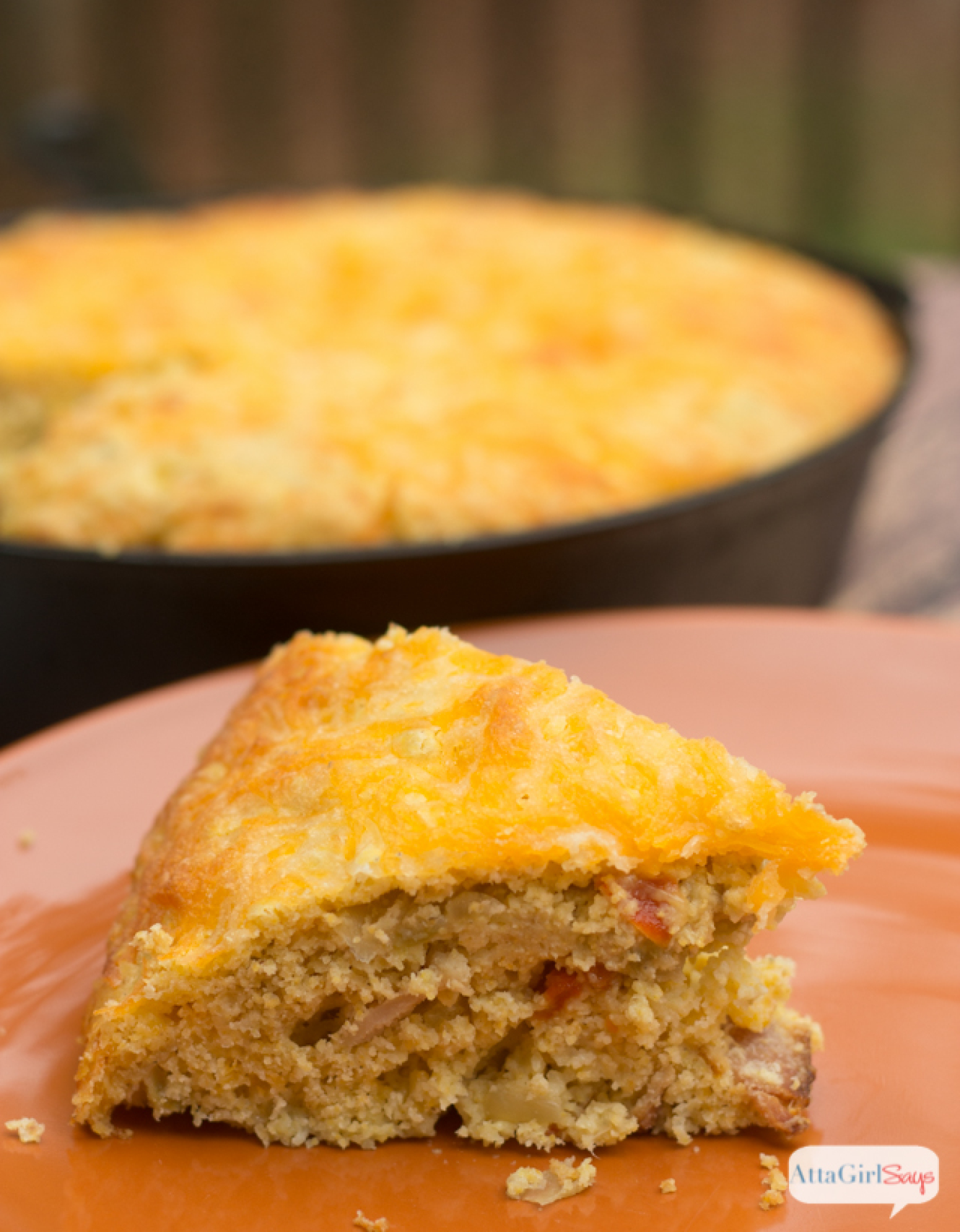 Cheesy Green Chile Cornbread Recipe | Just A Pinch Recipes