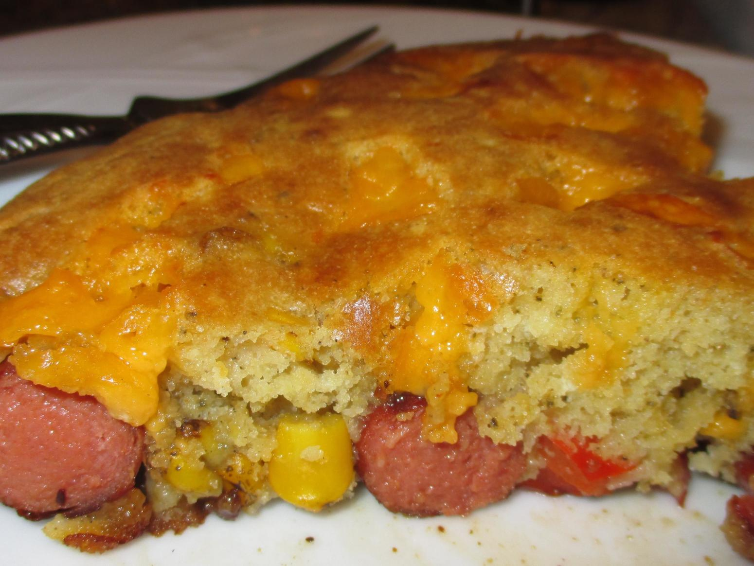 Skillet Corn Dog Casserole Recipe | Just A Pinch Recipes