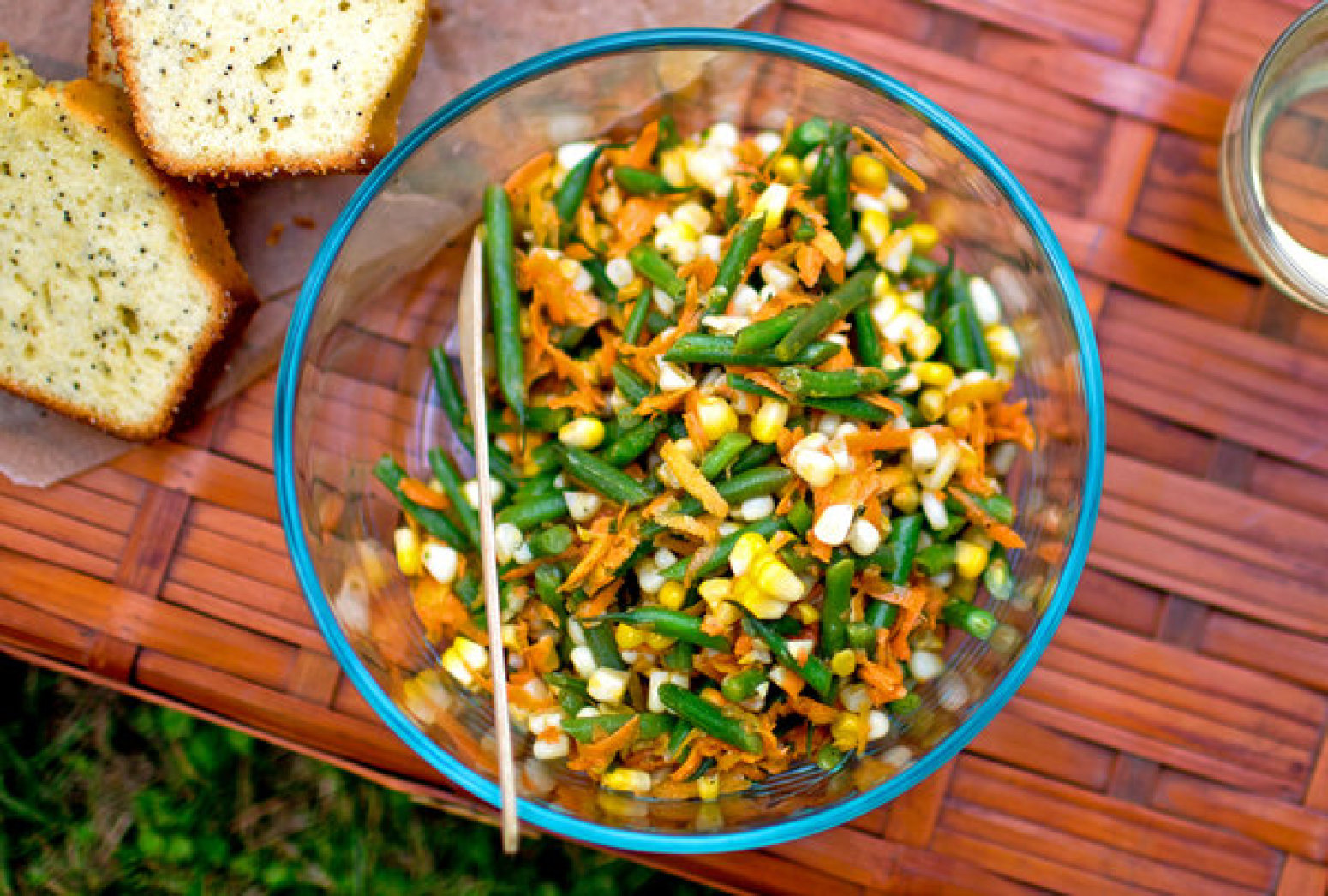 Haricots Verts, Corn and Carrot Salad Recipe | Just A Pinch Recipes