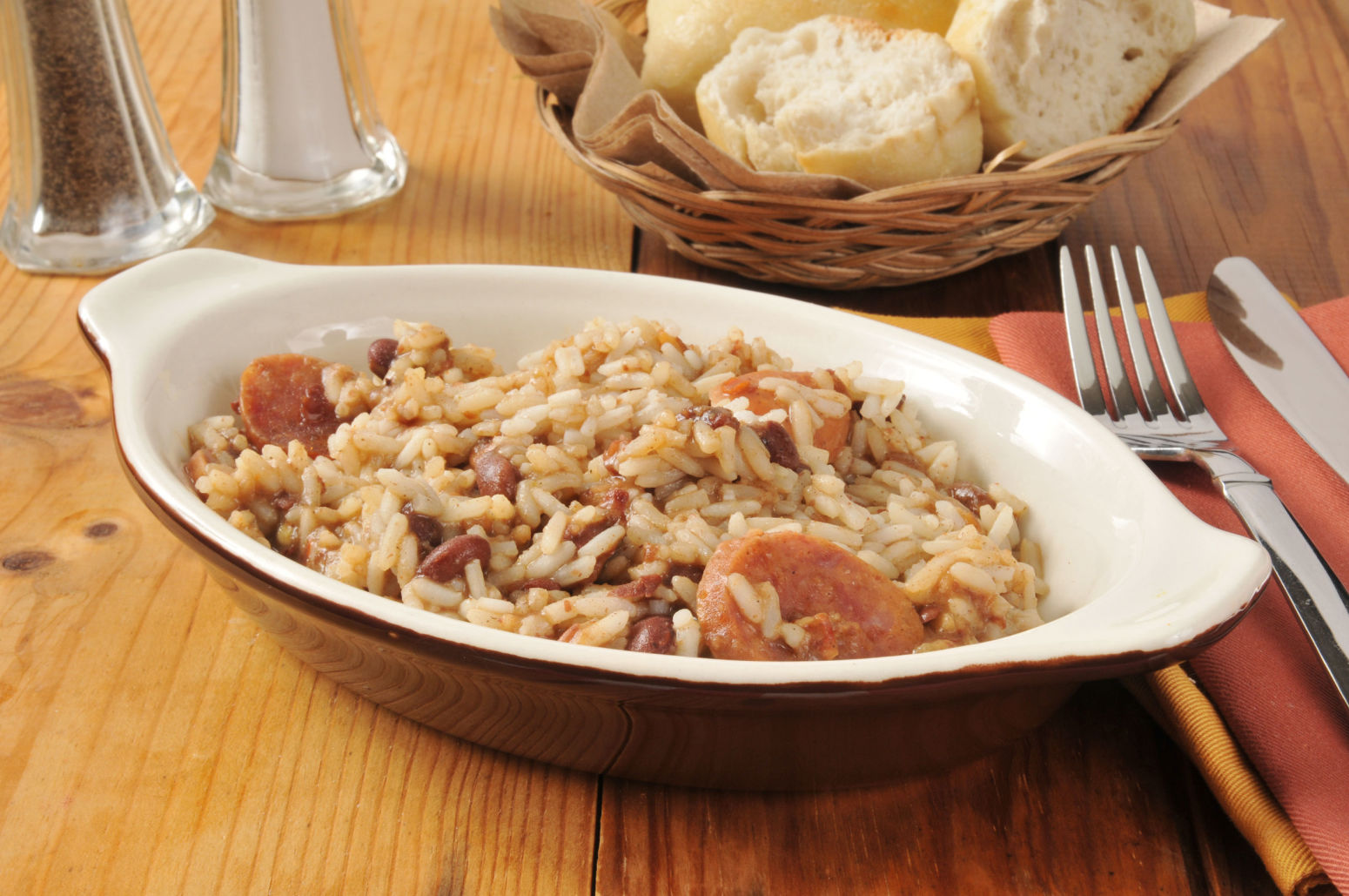 Hearty Cajun: Andouille Sausage Rice and Beans Recipe ...