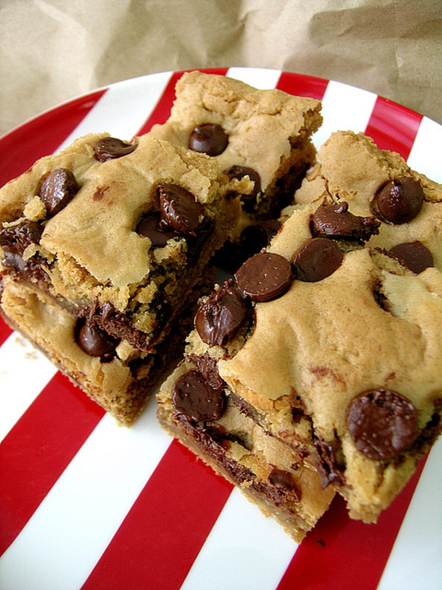 peanut butter Blondies with chocolate chips Recipe   Just ...