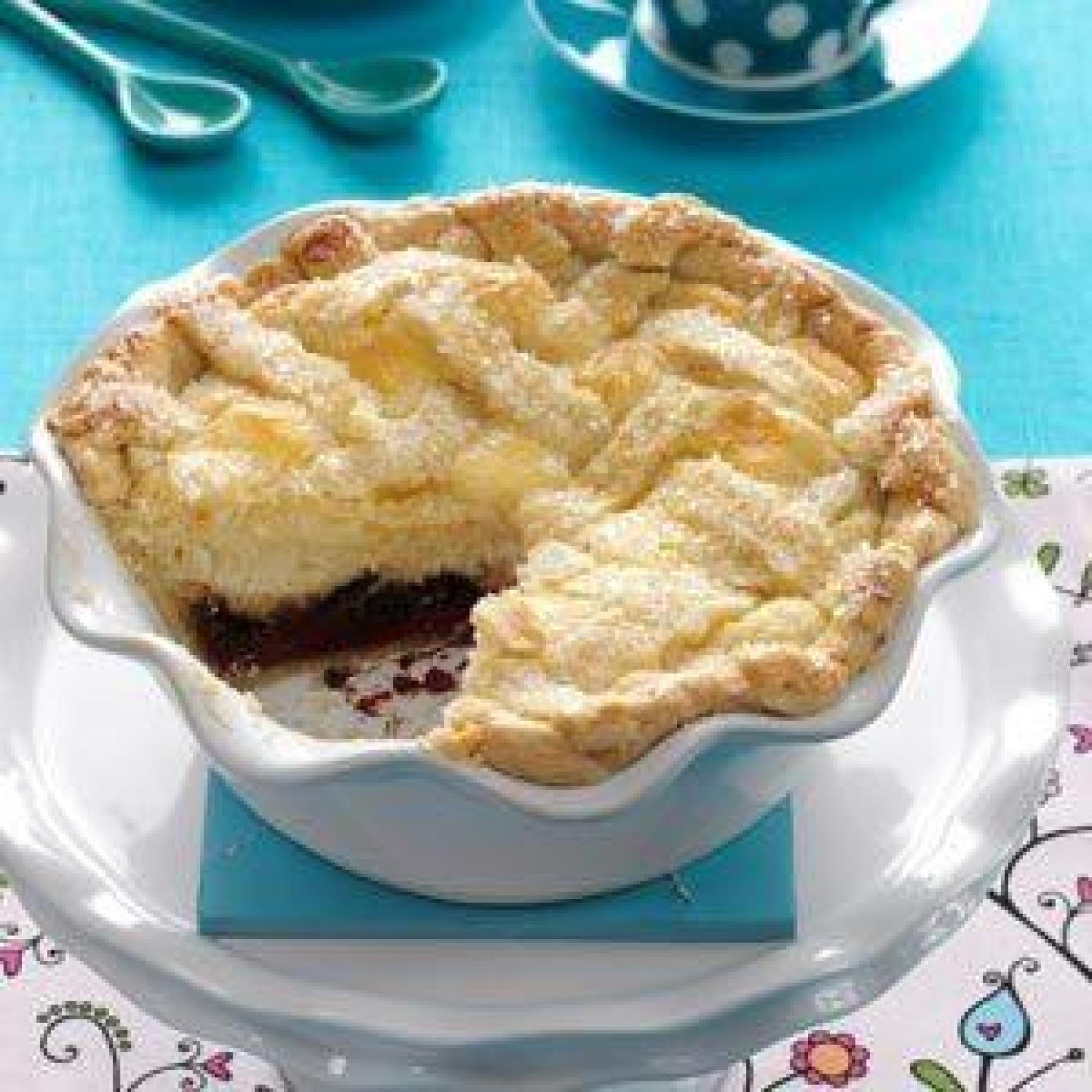 Ricotta Pie With Chocolate and Raspberry Recipe | Just A Pinch Recipes