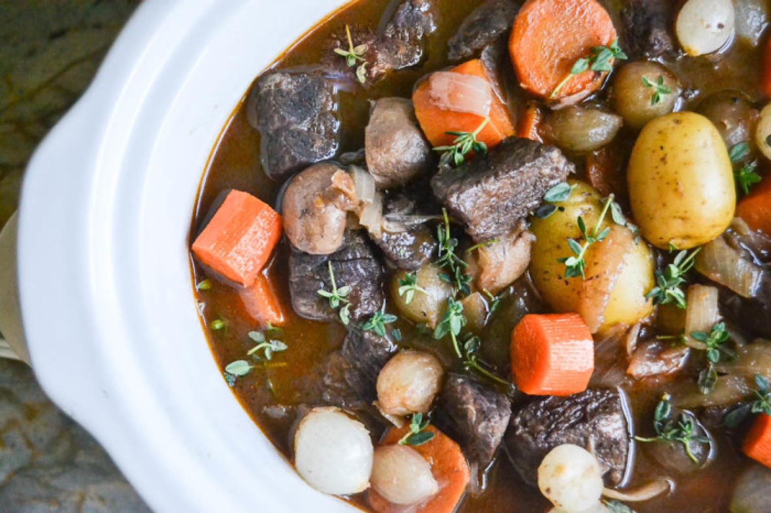 cooker crock pot beef bourguignon recipe just a pinch recipes
