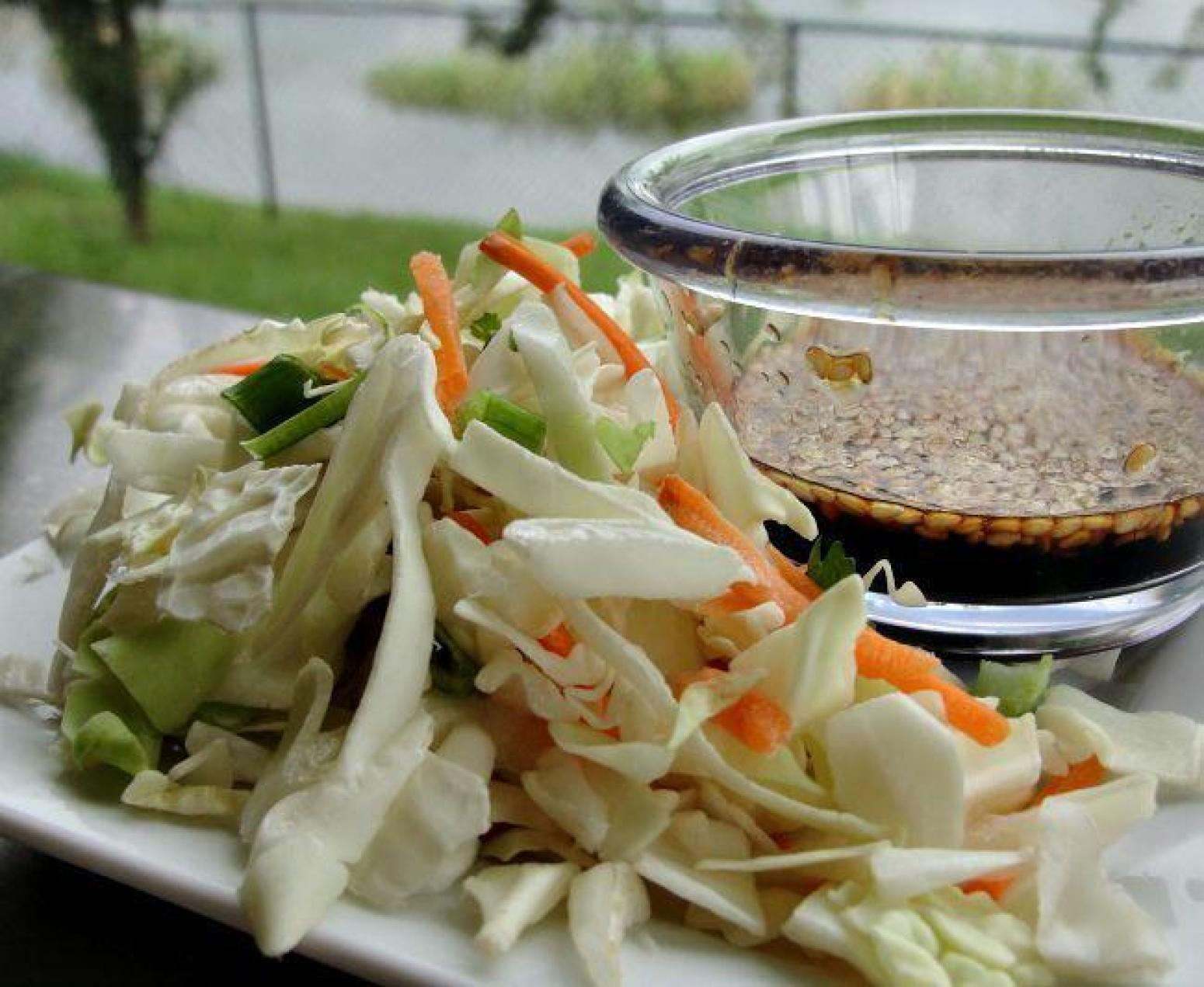 Asian Slaw with Ponzu Dressing Recipe | Just A Pinch Recipes