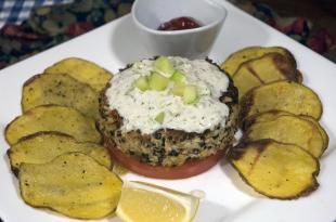 Quinoa Chicken Burgers with Yukon Gold Chips Recipe