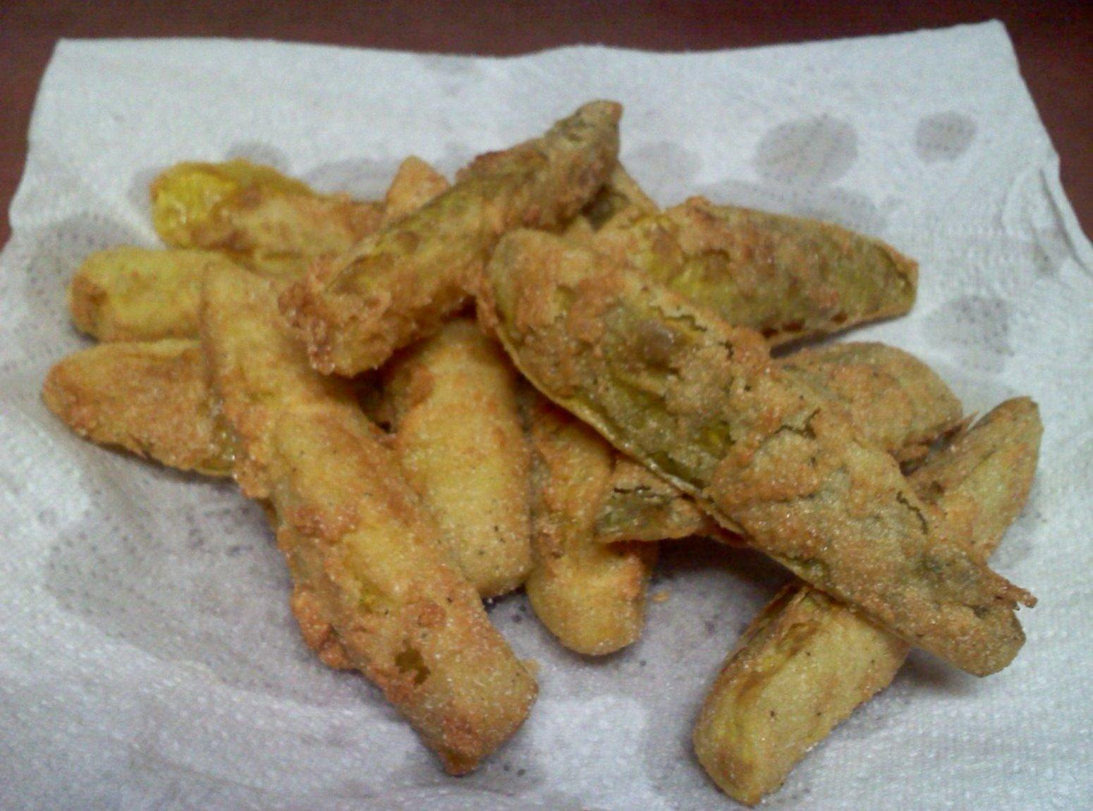 Fried Dill Pickle Spears Recipe