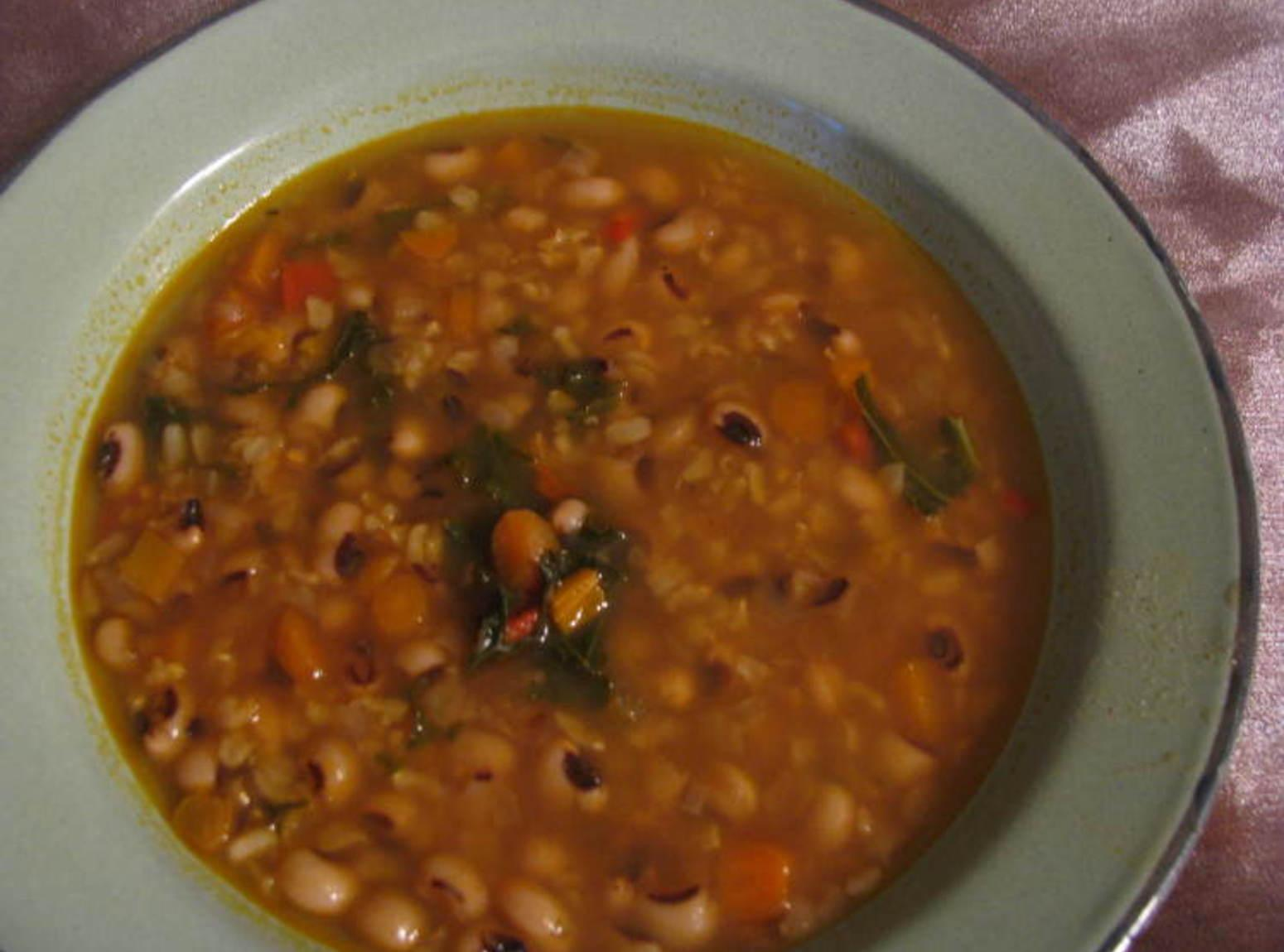 Soup Black Eyed Peas Black Eyed Pea And Brown Rice