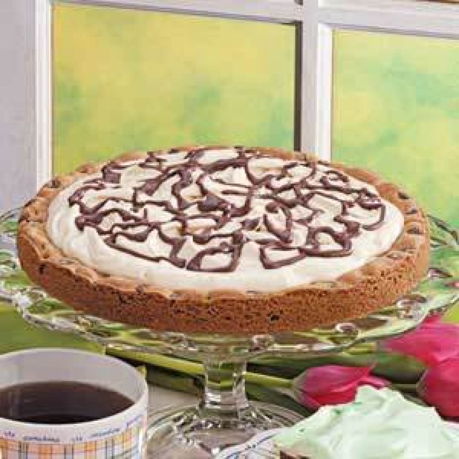 Chocolate Chip Cookie Tart Recipe | Just A Pinch Recipes