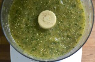 SALSA VERDE W/TOMATILLOS (SALLYE) Recipe