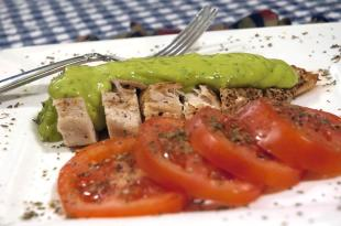 Sautéed Chicken Breast w/Tomatoes & Avocado Sauce Recipe