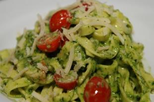 Lemon Basil Fetticini  Dinner Recipe