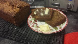 Orange and Wheat Banana Bread