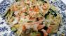 Pasta W/ Garlic Parmesan Sauce & Vegetable Ribbons Recipe